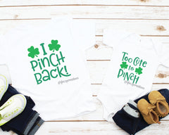 St. Patrick's Day Sibling Shirts |  Too Cute To Pinch