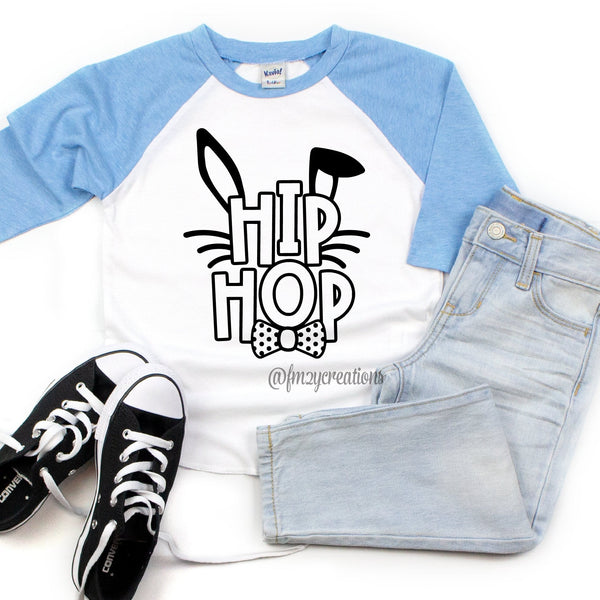 Hip Hop Boy Bunny Easter Raglan