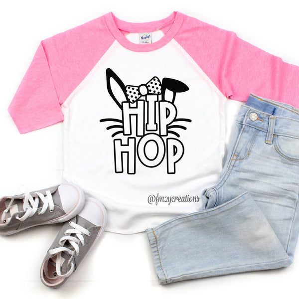 Hip Hop Girl Bunny Raglan