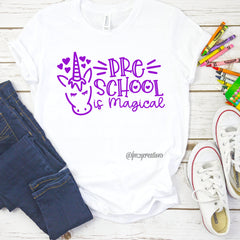 Custom First Day of School Unicorn Shirt