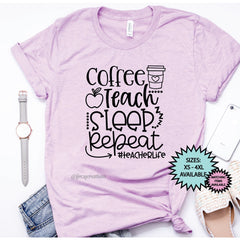 Coffee, Teach, Sleep Shirt