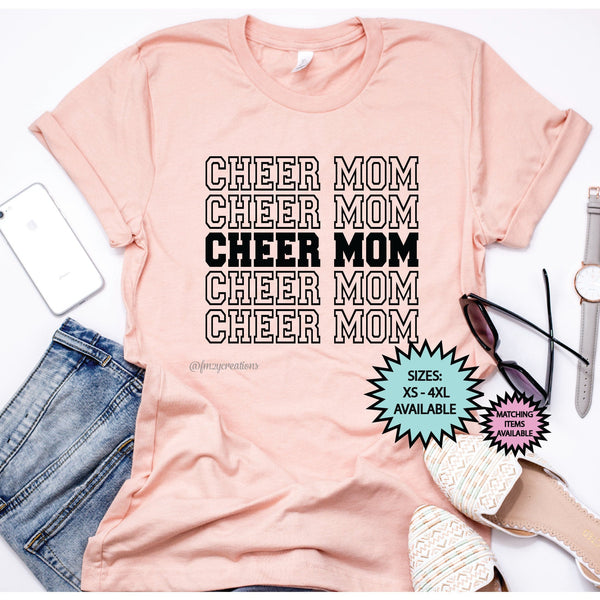 Cheer Mom Repeat Shirt