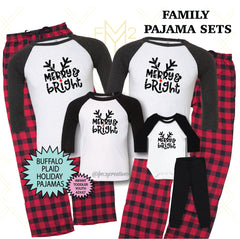 Merry and Bright Family Pajama Sets