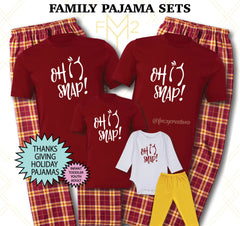 Oh Snap Wishbone Matching Thanksgiving Family Pajama Sets