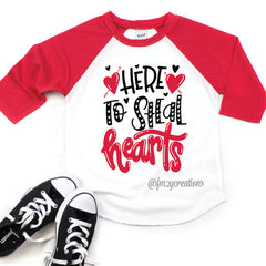 Here to Steal Hearts Raglan
