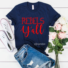 Rebels Y'all Shirt