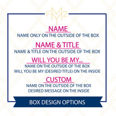 "Bridesmaid Proposal Boxes | Name On The Outside & Will You Be My ""Bridesmaid"" Inside"
