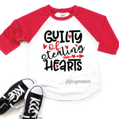 Guilty of Stealing Hearts Raglan