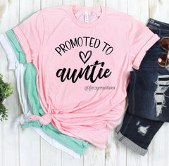 Promoted to Auntie Heart Shirt