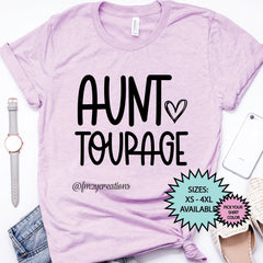 Aunt-Tourage Heart Shirt
