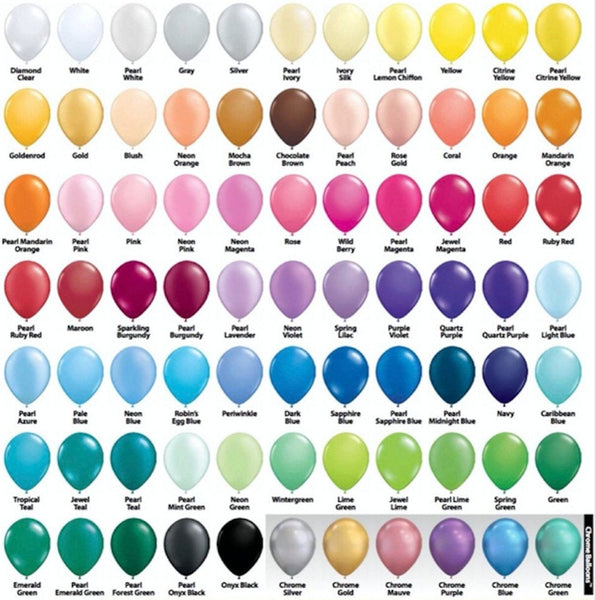 "11"" Round Latex Balloons 