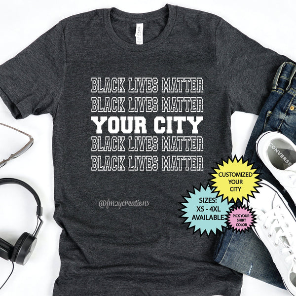 Black Lives Matter City Shirt*