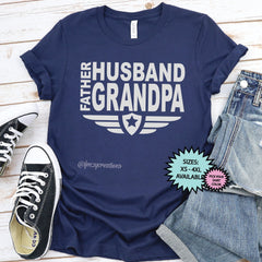 Grandpa, Father, Husband Shirt