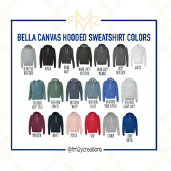 Blank Bella Canvas Hooded Sweatshirt