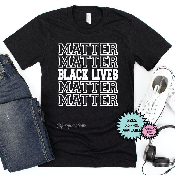 Black Lives Matter Bold Repeat Shirt
