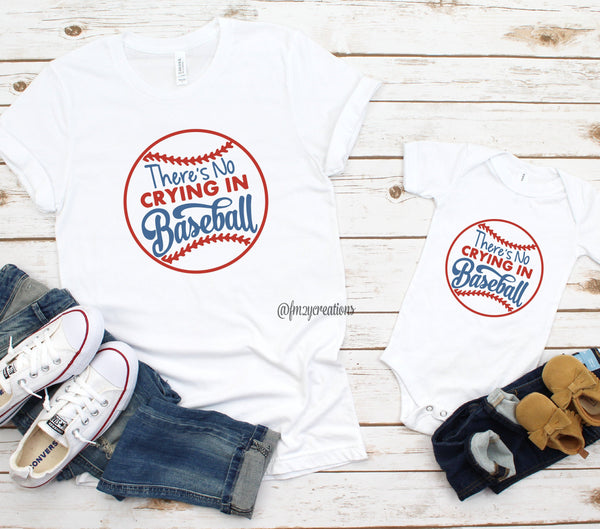 No Crying in Baseball Matching Shirts
