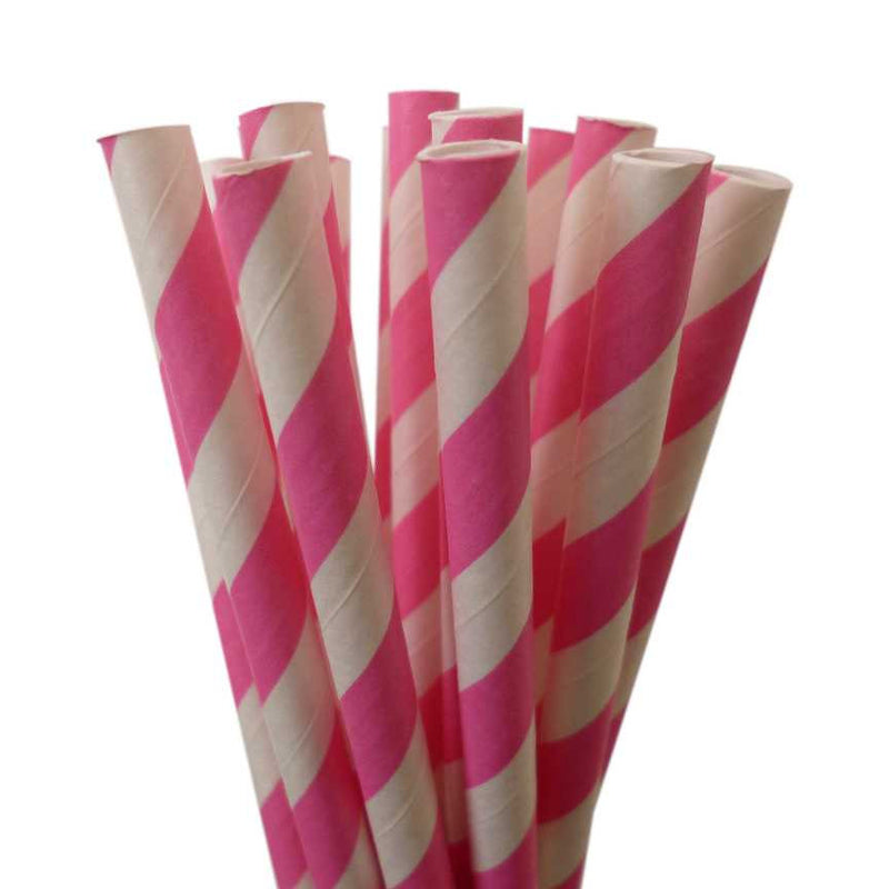 STRIPE PAPER STRAWS: Pink|Orange - From Me 2 You Creations