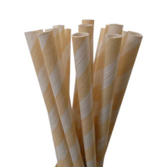 STRIPE PAPER STRAWS: Ivory - From Me 2 You Creations
