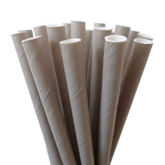 SOLID PAPER STRAWS: Gray