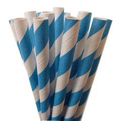 STRIPE PAPER STRAWS: Blue - From Me 2 You Creations
