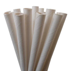SOLID PAPER STRAWS: White - From Me 2 You Creations