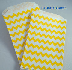 VINTAGE LONG STRIPE PAPER STRAWS: Yellow - From Me 2 You Creations
