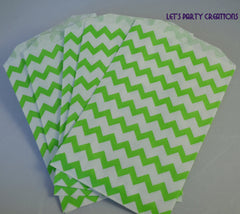 VINTAGE LONG STRIPE PAPER STRAWS: Lime Green - From Me 2 You Creations