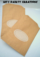KRAFT FAVOR BAGS: SCALLOP - From Me 2 You Creations