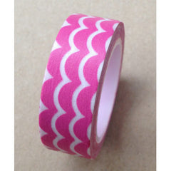 WASHI TAPE: SCALLOP PINK - From Me 2 You Creations