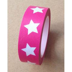 WASHI TAPE: STARS PINK (LARGE)