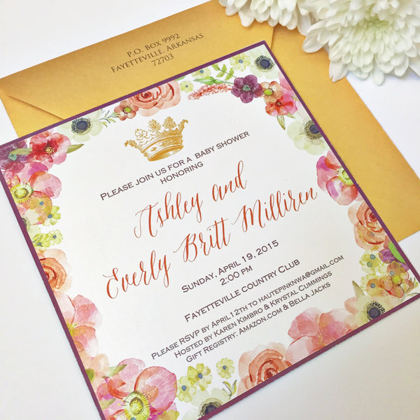 INVITATION | Princess Baby Shower