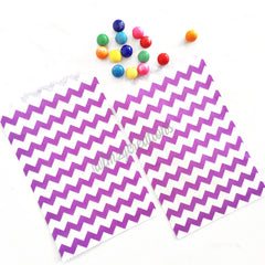 CHEVRON FAVOR BAGS: PURPLE - From Me 2 You Creations