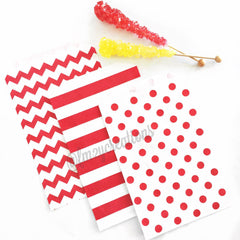 POLKA DOT FAVOR BAGS: RED