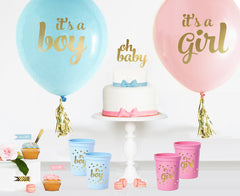 BALLOONS: GENDER REVEAL COMBO - From Me 2 You Creations