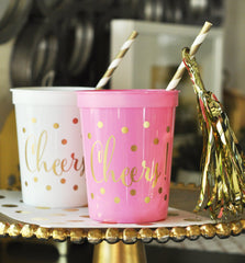 PARTY CUPS PLASTIC: CHEERS - From Me 2 You Creations