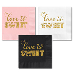 PARTY NAPKINS: Love is Sweet - From Me 2 You Creations