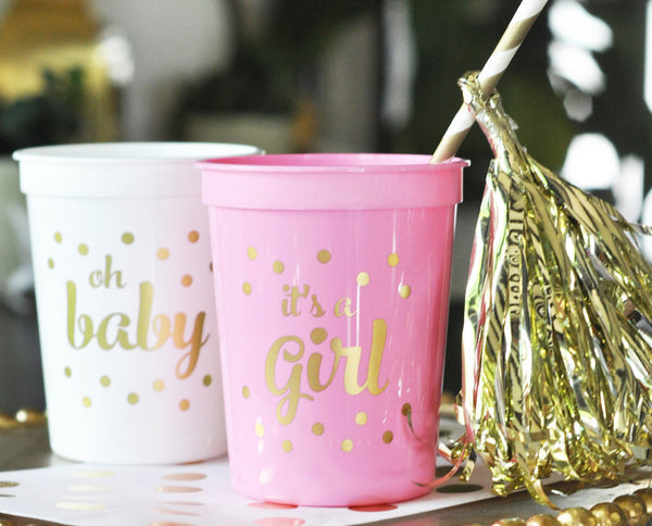 PARTY CUPS: IT'S A GIRL