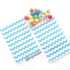 CHEVRON FAVOR BAGS: AQUA - From Me 2 You Creations