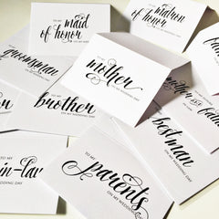 THANK YOU WEDDING CARD | BEST MAN - From Me 2 You Creations