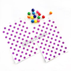 POLKA DOT FAVOR BAGS: PURPLE - From Me 2 You Creations
