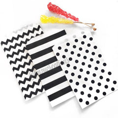 STRIPE FAVOR BAGS: BLACK - From Me 2 You Creations