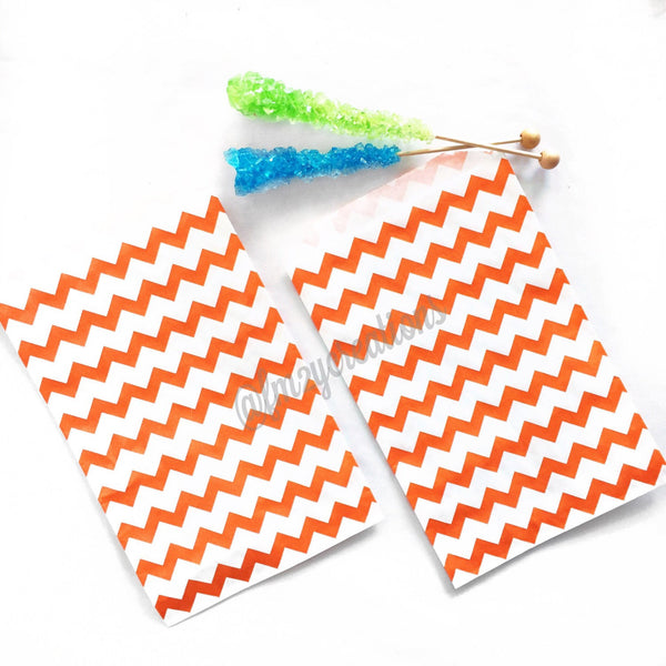CHEVRON FAVOR BAGS: ORANGE