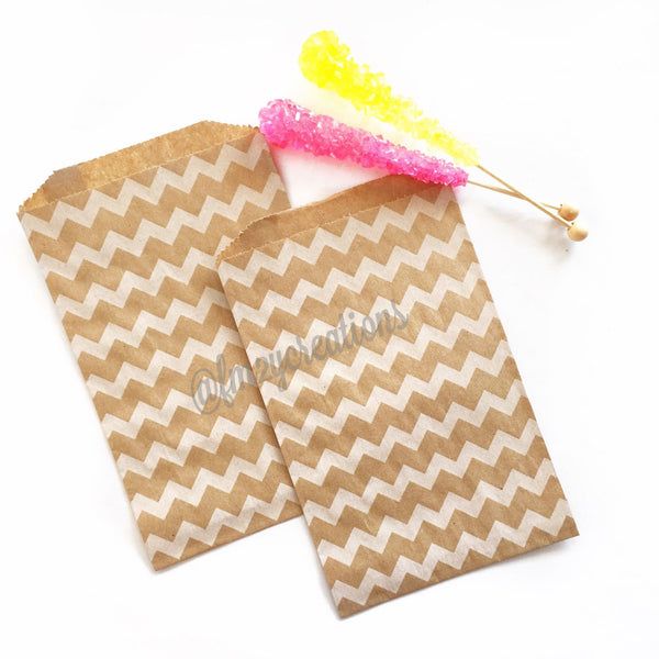 CHEVRON FAVOR BAGS: KRAFT
