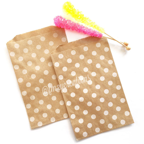 POLKA DOT FAVOR BAGS: KRAFT