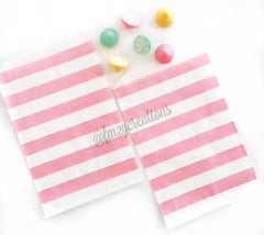 STRIPE FAVOR BAGS: LIGHT PINK - From Me 2 You Creations