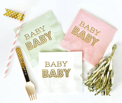 PARTY NAPKINS: BABY SHOWER | GENDER REVEAL - From Me 2 You Creations