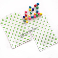 POLKA DOT FAVOR BAGS: GREEN - From Me 2 You Creations