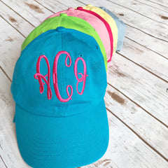 Monogram Baseball Cap | Solid Color - From Me 2 You Creations