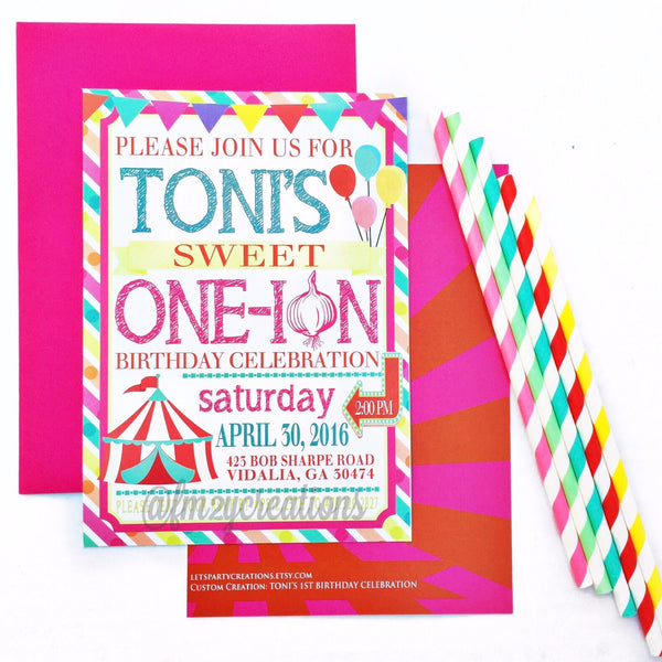 INVITATION | CIRCUS CARNIVAL BIRTHDAY PARTY