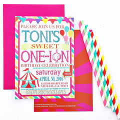 INVITATION | CIRCUS CARNIVAL BIRTHDAY PARTY - From Me 2 You Creations